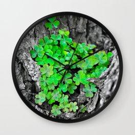 Clover Cluster Wall Clock