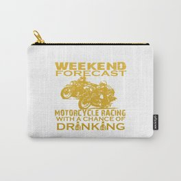 WEEKEND FORECAST MOTORCYCLE RACING Carry-All Pouch