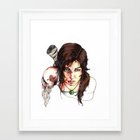 tomb raider Framed Art Prints featuring Tomb Raider: The Survivor by Dale Dupre