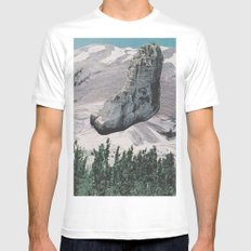 Collage No. 58 White Mens Fitted Tee MEDIUM