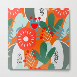 Cacti, fruits and flowers Metal Print