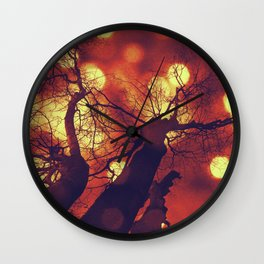 Red Misterious Sky Wall Clock