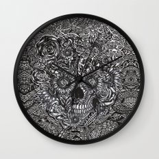 Sensory Overload Skull Wall Clock