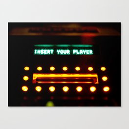 Insert Your Player Canvas Print