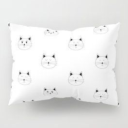 Cat Moods (Black and White Version) Pillow Sham