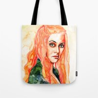 lions Tote Bags featuring Lions by Maria Bruggeman