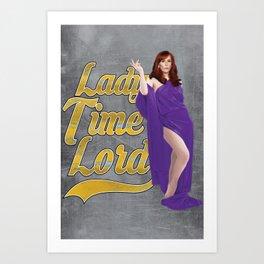 Lady Time Lord Art Print