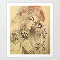 mucha Art Prints featuring mucha chicano by paolo de jesus