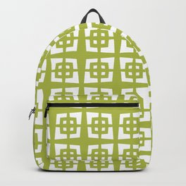 Mid Century Modern Pattern 271 Chartreuse Backpack