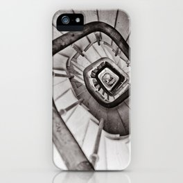 Wooden stairs iPhone Case
