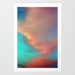 Pink and Blue Art Print