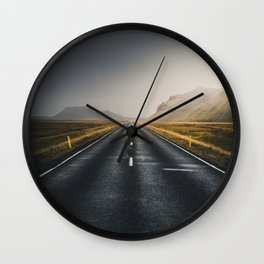 The Open Road (Color) Wall Clock