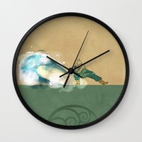 korra Wall Clocks featuring Avatar Korra by daniel