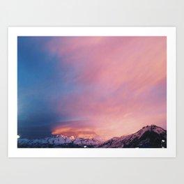 Christmas Eve Sunset Art Print