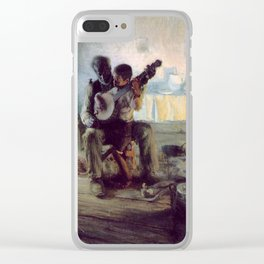 The Banjo Lesson by Henry Ossawa Tanner Clear iPhone Case