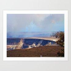 On Top Of The Volcano Art Print