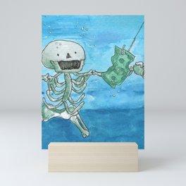 Nevermind - Nirvana - Skeleton version Mini Art Print