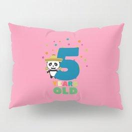 Five Years fifth Birthday Party Panda Dbknv Pillow Sham