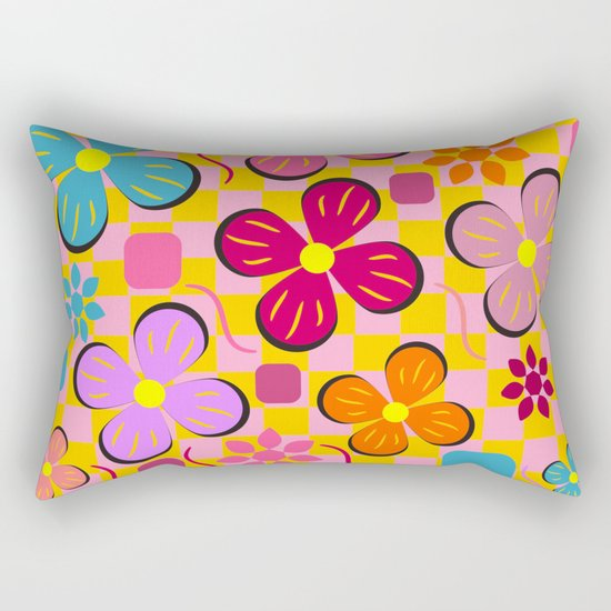 Floral joy in June Rectangular Pillow