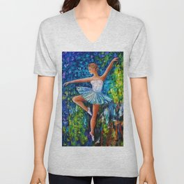 Dance In The Rain Of Color Unisex V-Neck