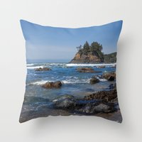 time low Throw Pillows featuring Low Tide by Mark Alder