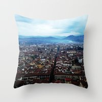 florence Throw Pillows featuring Florence by grrrenadine
