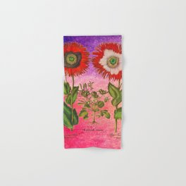 Vintage Botanical Collage - Poppies, Papaver Somniferum Hand & Bath Towel