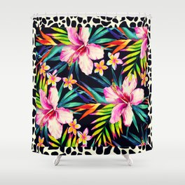 tropical wild 2 Shower Curtain
