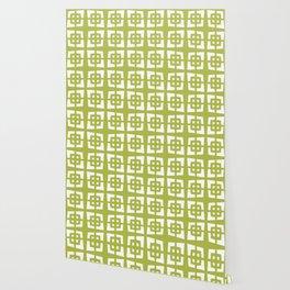 Mid Century Modern Pattern 271 Chartreuse Wallpaper