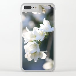 Healing Hawthorn Flowers Clear iPhone Case