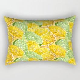 Citrus juicy slice pattern with fruit halves Rectangular Pillow