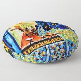 Cafe Terrace - Homage to Van Gogh Floor Pillow