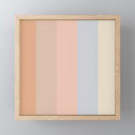 Fall 2019 color pastel lines Framed Mini Art Print