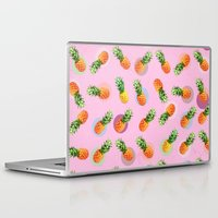 pineapple Laptop & iPad Skins featuring pineapple by mark ashkenazi