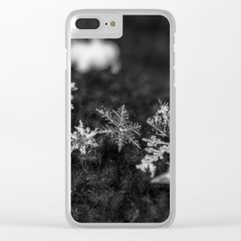 Clump of snowflakes Clear iPhone Case