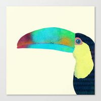 toucan Canvas Prints featuring Toucan by Eric Fan