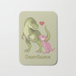 DaddySaurus T-Rex Father & Baby Girl Dinosaurs Bath Mat