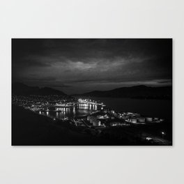 Harbour Night Sky Canvas Print
