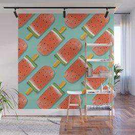 Watermelon Popsicles Pattern #society6 #decor #buyart Wall Mural