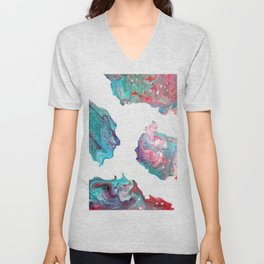 Fluid Abstract 20 Unisex V-Neck