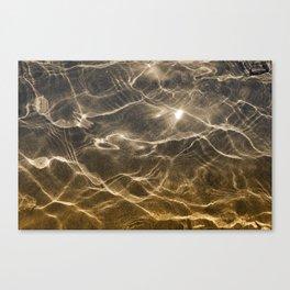 golden reflection 0341 undewater sand Canvas Print
