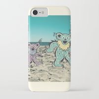grateful dead iPhone & iPod Cases featuring Grateful Dead Beach Cruise by Charlotte hills