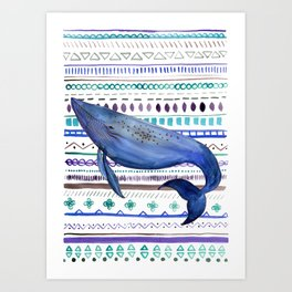 What about the Whales? Art Print