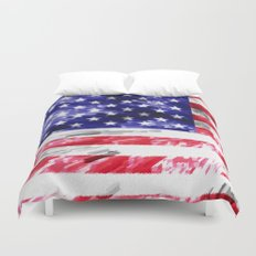 American Flag Extrude Duvet Cover
