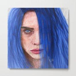 Billie Eilish Avocado Metal Print