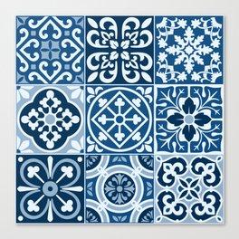 Classic Blue Tiles Canvas Print
