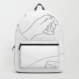 Hands With Wine Glass Toasting Drawing Backpack