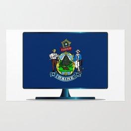 Maine Flag TV Rug