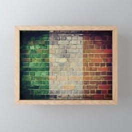 Vintage Ireland flag Framed Mini Art Print