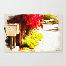 Down by the Mailboxes Canvas Print